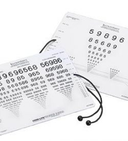 Near Vision Card w/ Cord (LEA Numbers)-0