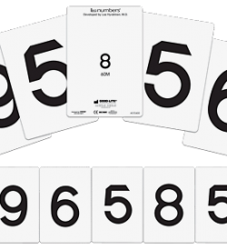 LEA Numbers Cards, 40M and 60M-0