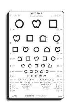 LEA Symbols 13-Line Translucent Distance Chart-0