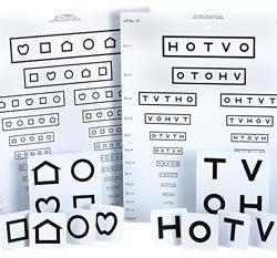 LEA Symbols & HOTV Massachusetts Pediatric Eye Chart-0