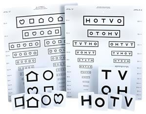 LEA Symbols & HOTV Massachusetts Pediatric Eye Chart-111