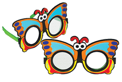 Butterfly Frosted Occluder Glasses-0