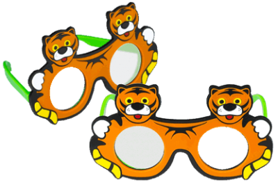 Tiger Frosted Occluder Glasses-0