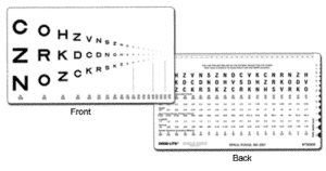 Runge Low Vision Near Card