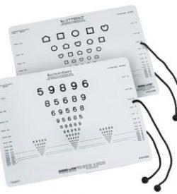 LEA Symbols & LEA Numbers Near Vision Card